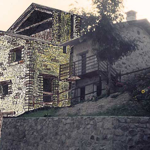 RESTRUCTURING WITH RECONSTRUCTION OF RUINS OF  A FAMILY HOUSE – VILLAGE PALANFRE' – VERNANTE (CN)